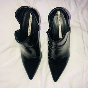 Zara Shoes - Black Patent Booties